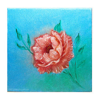 Rose v1 Mini Art 4x4 by Mary Sylvia Hines