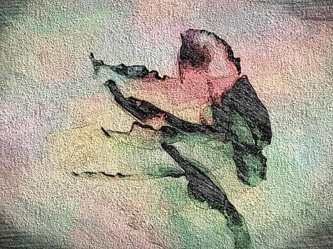 Rose Wallflower Fresco by  Jeff Mantz Rhodes