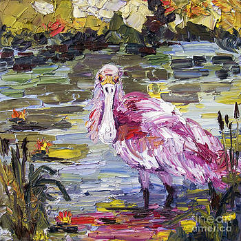 Ginette Callaway - Roseate Spoonbill Florida Birds Oil Painting