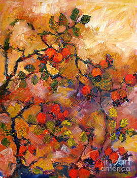 Ginette Callaway - Rosehips Oil Painting