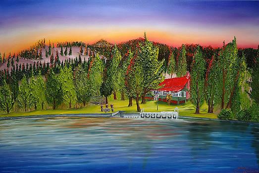 Rosemont Cabin Lake Chelan  by Portland Art Creations