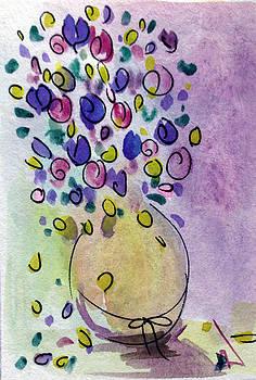 Patricia Lazaro - Roses Flowerpot