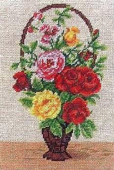 Roses in a basket by Mona  Bernhardt-Lorinczi