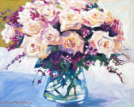 David Lloyd Glover - Roses In Glass