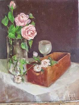 Pink Roses in June by Kathleen Hoekstra