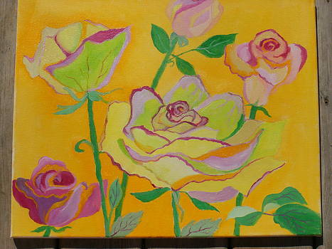 Roses in Sunshine by Mary Birchard