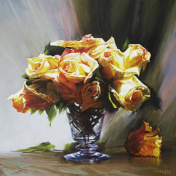 Roses by Jihong  Shi