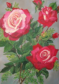 Roses n' Rain by Sharon Duguay