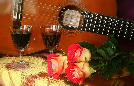 Guitar 'n Roses by The Art of Alice Terrill