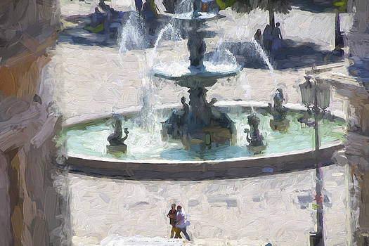 Rossio Square Lisbon by Phil Darby