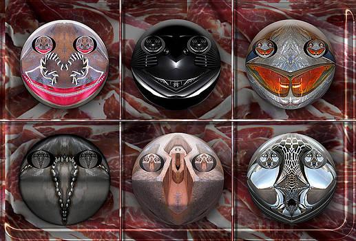 Rostros Materiales IV by Ramon Rivas - Rivismo