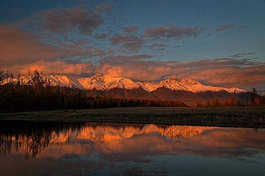 Wes and Dotty Weber - Rosy Alaska Sunset