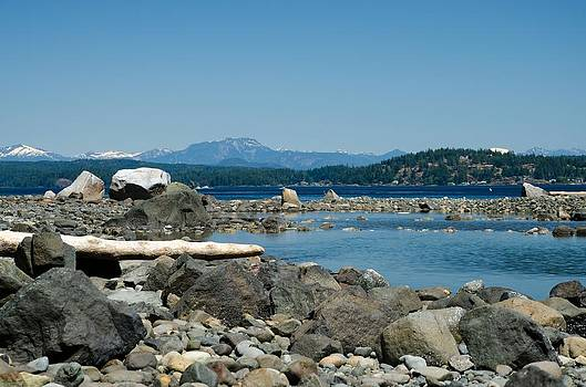 Rotary Beach - Rocks and Pool by Kathy Paynter