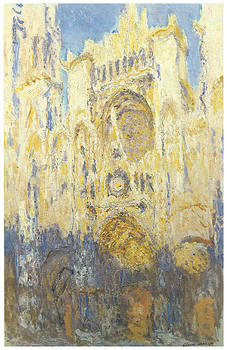 Claude Monet - Rouen Cathedral Facade at Sunset