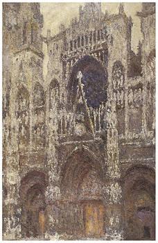 Claude Monet - Rouen Cathedral Facade Gray Day
