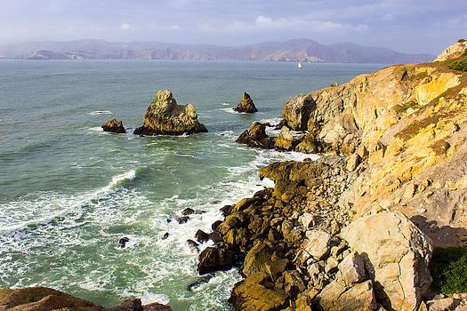 Rough Californian Shore near San Francisco CA Cliff House 2 by G Matthew Laughton