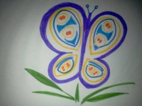 Round Butterfly by Karen Jensen