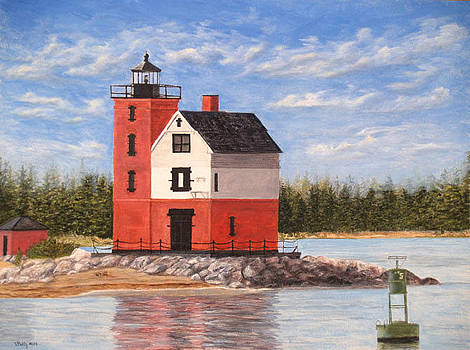 Round Island Light House by Vicky Path