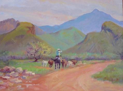 round-up at Ojo Caliente by John Marbury