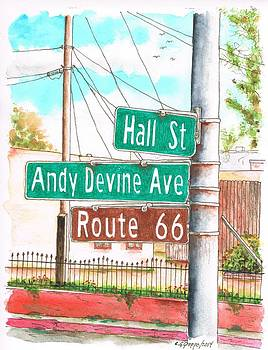 Street sign in Route 66 - Andy Devine Ave in Kingman, Arizona by Carlos G Groppa
