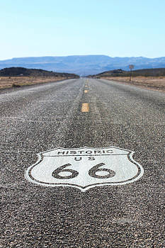 Route 66 Arizona by Pamela Lecavalier