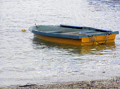 Row Boat at Sea by Kathy Daxon