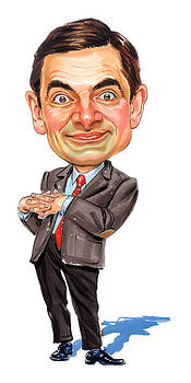 Rowan Atkinson as Mr. Bean by Art