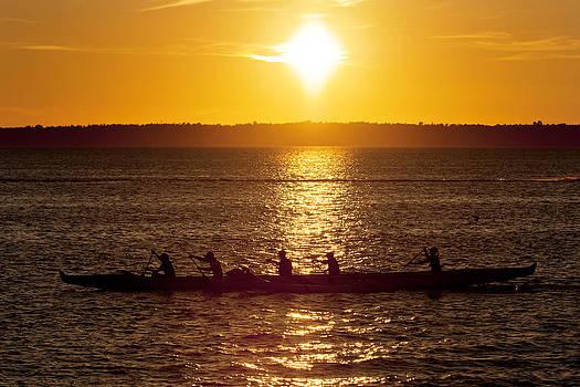 Paul Conrad - Rowing in the Bay