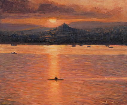 Rowing In The Sunset by Marco Busoni
