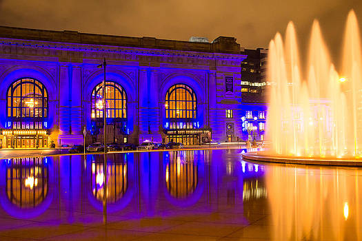 Royal Blue Reflections Union Station by Steven Bateson