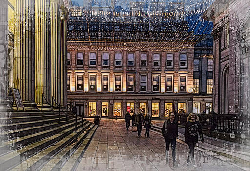 Royal Exchange Square  Glasgow by Fiona Messenger
