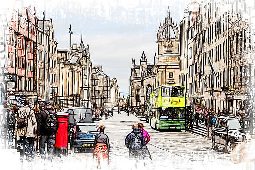 Royal Mile Edinburgh by Fiona Messenger