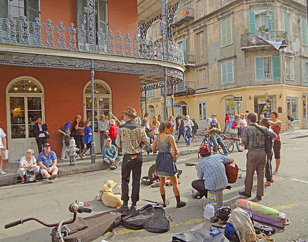 Royal Street Buskers in New Orleans by Louis Maistros