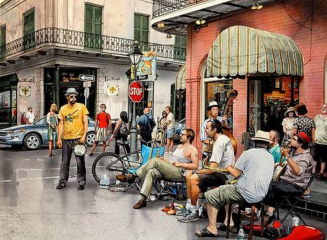 Royal Street Jazz by Robert W Cook