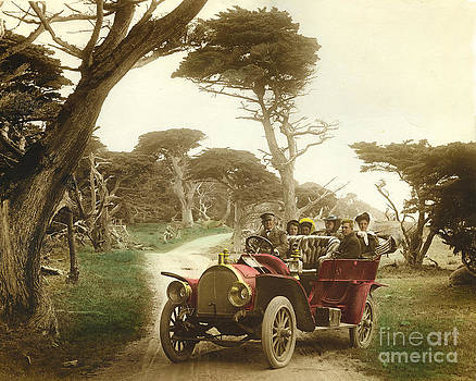 California Views Mr Pat Hathaway Archives - Royal Tourist touring car model G3 at Cypress Grove in Pebble Beach California 1910