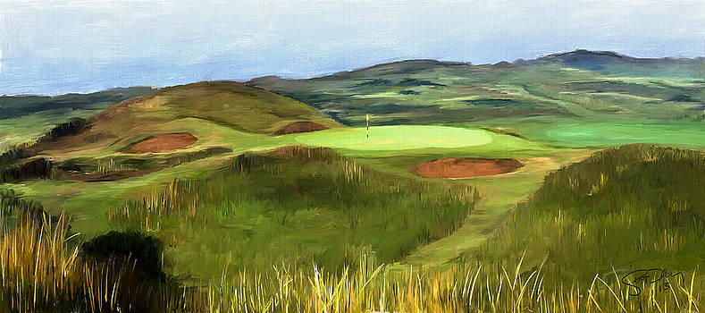 Royal Troon - Hole 8 - Postage Stamp by Scott Melby