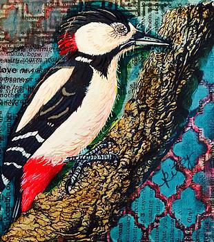 Royal Woodpecker by Kitty Miller