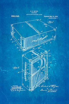 Ian Monk - Royce Knapsack Patent Art 1909 Blueprint