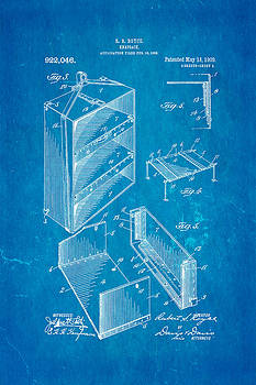 Ian Monk - Royce Knapsack Patent Art 2 1909 Blueprint