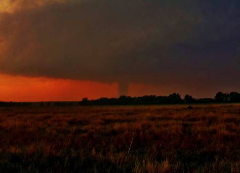 Rozel Tornado on the Horizon by Ed Sweeney