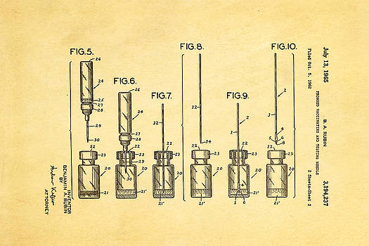 Ian Monk - Rubin Vaccinating Needle 2 Patent Art 1965