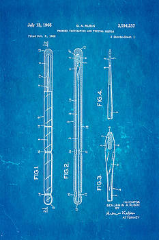 Ian Monk - Rubin Vaccinating Needle Patent Art 1965 Blueprint