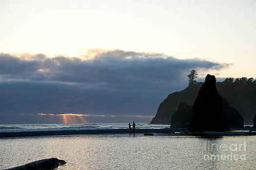 Ruby beach sunset by Russell Christie