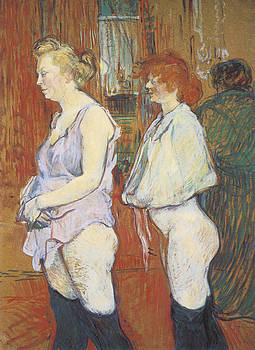 Henri De Toulouse-Lautrec - Rue des Moulins The Medical Inspection