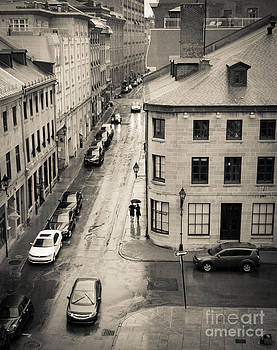 Rue Saint Paul Vieux Montreal by Amy Fearn