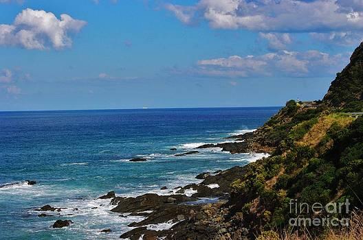 Rugged coastline of the Great Ocean Road by Blair Stuart