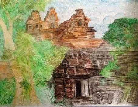 Ruins in Cambodia by Iris Devadason