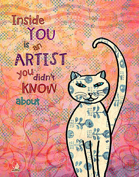 Rumi Cat Artist by Cat Whipple