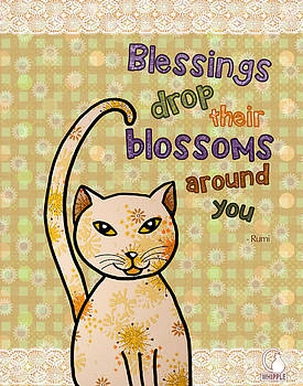 Rumi Cat Blossoms  by Cat Whipple