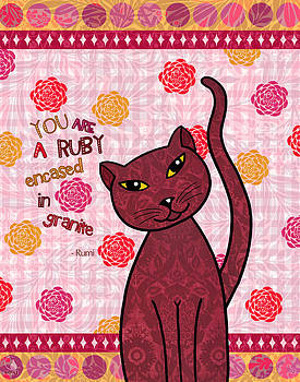 Rumi Cat Ruby by Cat Whipple